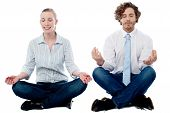 Business People Practicing Meditation