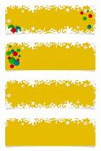 Four Yellow Christmas Headers