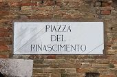 Medieval street sign in Urbino