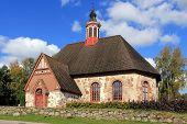 stock photo of octagon  - Late Medieval Renko Church Finland was dedicated to St James - JPG