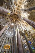 interior of Sagrada Familia