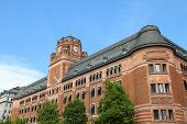 stock photo of old post office  - Stockholm Sweden  - JPG
