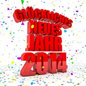 Happy New Year 2014 In German Languages