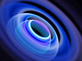 foto of outer core  - outer space planet ring on dark background - JPG