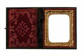 picture of keepsake  - beautiful old Daguerreotype photo case on a white background - JPG