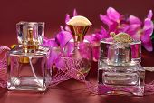 Perfume  And Pink Orchids