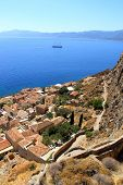 Overlooking the city of Monemvasia, Greece