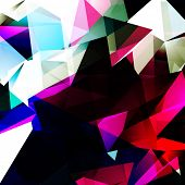 Colorful Abstract Triangles Design