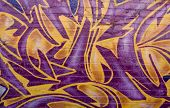 Orange And Violet Graffiti