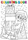 Coloring book Santa Claus topic 8 - eps10 vector illustration.