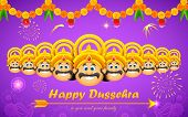 pic of ravan  - illustration of Raavana with ten heads for Dussehra - JPG