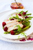 Delicious chicken and raspberry salad for holiday
