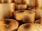Close-up Golden Coins