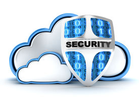foto of intranet  - Blue Cloud security on white background  - JPG