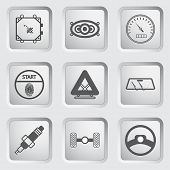 Car part and service icons set 7.