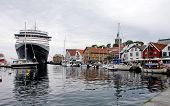 STAVANGER, NORWAY - JULY 03. Queen Viktoria moored at the quay on July 03, 2010 in Stavanger, Norway