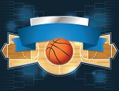 stock photo of arena  - A vector illustration of a basketball tournament concept - JPG