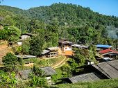 Karen Village At Mountains, Ban Pha Mon In Doi Inthanon Chiangmai Thailand