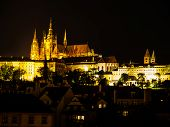 Hradcany Castle And St. Vitus Cathedral At Night