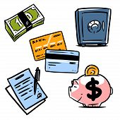 banking illustration icons set 1