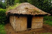image of papua new guinea  - Village house at rural area Papua New Guinea - JPG