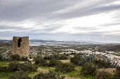 Atalaya Watchtower And Greenhouses In Background, Nijar - Almeria (spain)