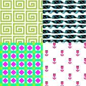 4-patterns-spring-flower-wavy-water