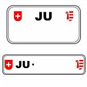 Jura plate number, Switzerland