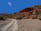 Moon above Tupiza