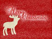 Wooden Reindeer Merry Christmas