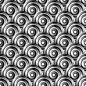 pic of uncolored  - Design seamless monochrome vortex pattern - JPG