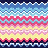 Tribal aztec zigzag seamless pattern, print