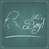 It's A Boy! Vintage Background