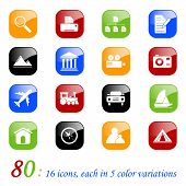Travel icons - color series