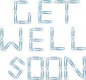 foto of get well soon  - Isolated photo image of paper clips spelling out the words - JPG