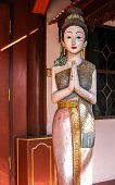 Wood Carving Of Thai Woman