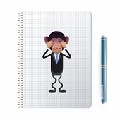 Fear Business Monkey Printed On Notebook