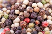 Background Of Black Peppercorns