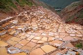 Saltworks In Maras, Cuzco, Peru