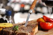 image of t-bone steak  - T - JPG