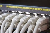 Close up of Network Switch