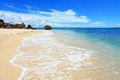 Beautiful beach and summer sky