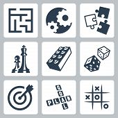 stock photo of tic-tac-toe  - Vector business strategies and development  - JPG