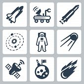 Vector Space Icons Set