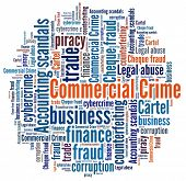 Commercial Crime in word collage