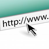 Web Address Bar With Cursor