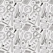 Seamless Stationery Pattern Background