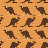 Seamless pattern with kangaroo