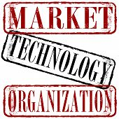 Market Technology Organization Stamp