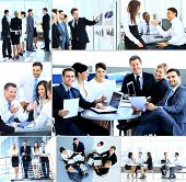 Businesspeople having meeting in modern office